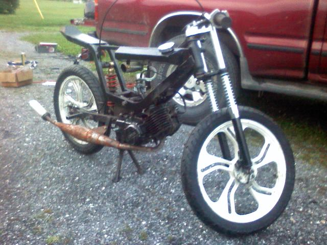 ratty 39 ish tomos colibri build mostly finished moped army. Black Bedroom Furniture Sets. Home Design Ideas
