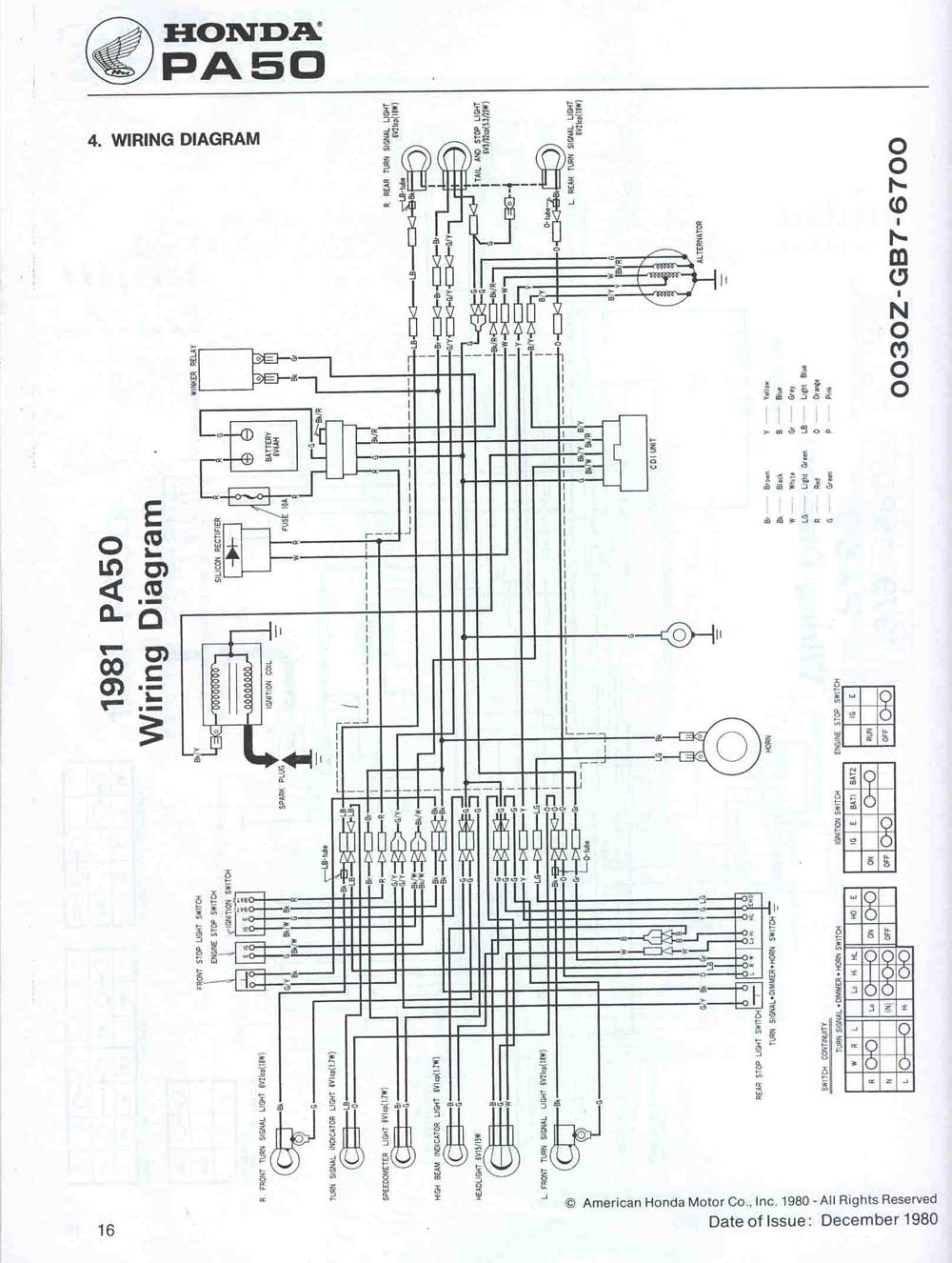honda hobbit moped cdi wiring diagram
