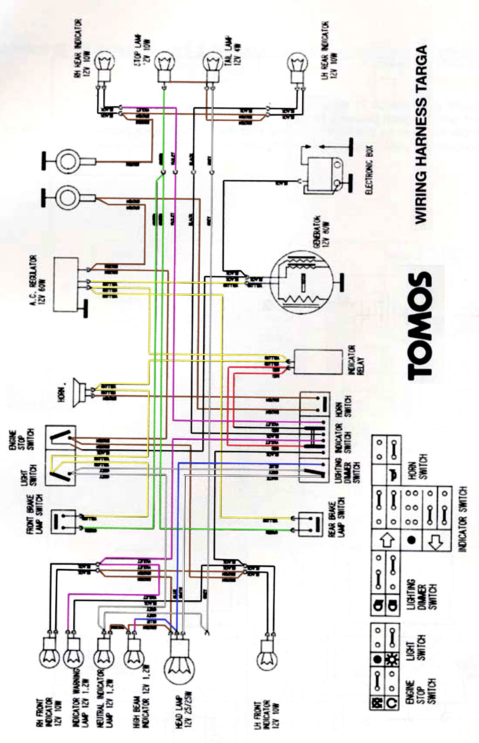 targa wiring diagram in color