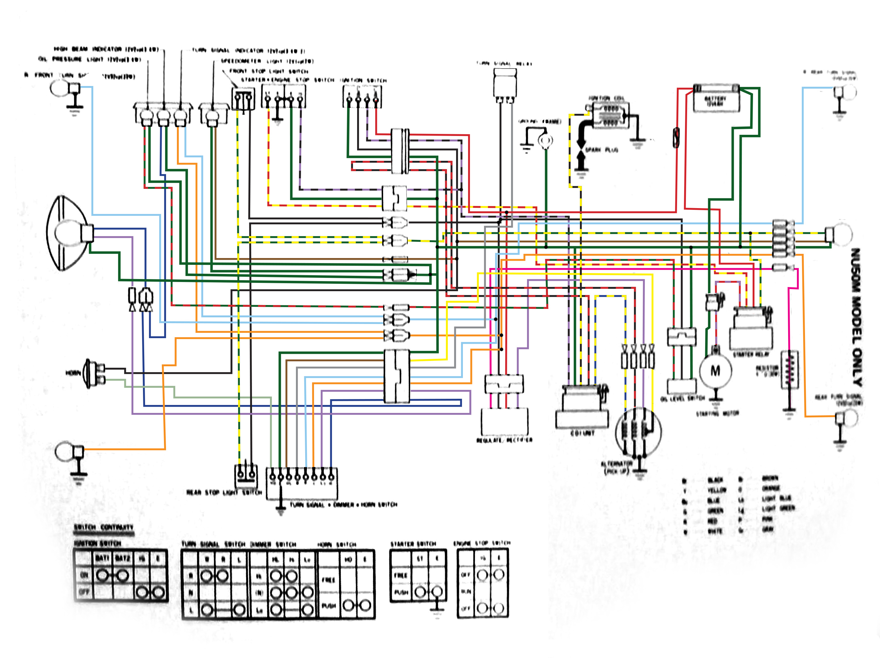 Complete Nu50m Wiring Diagram  U2014 Moped Army