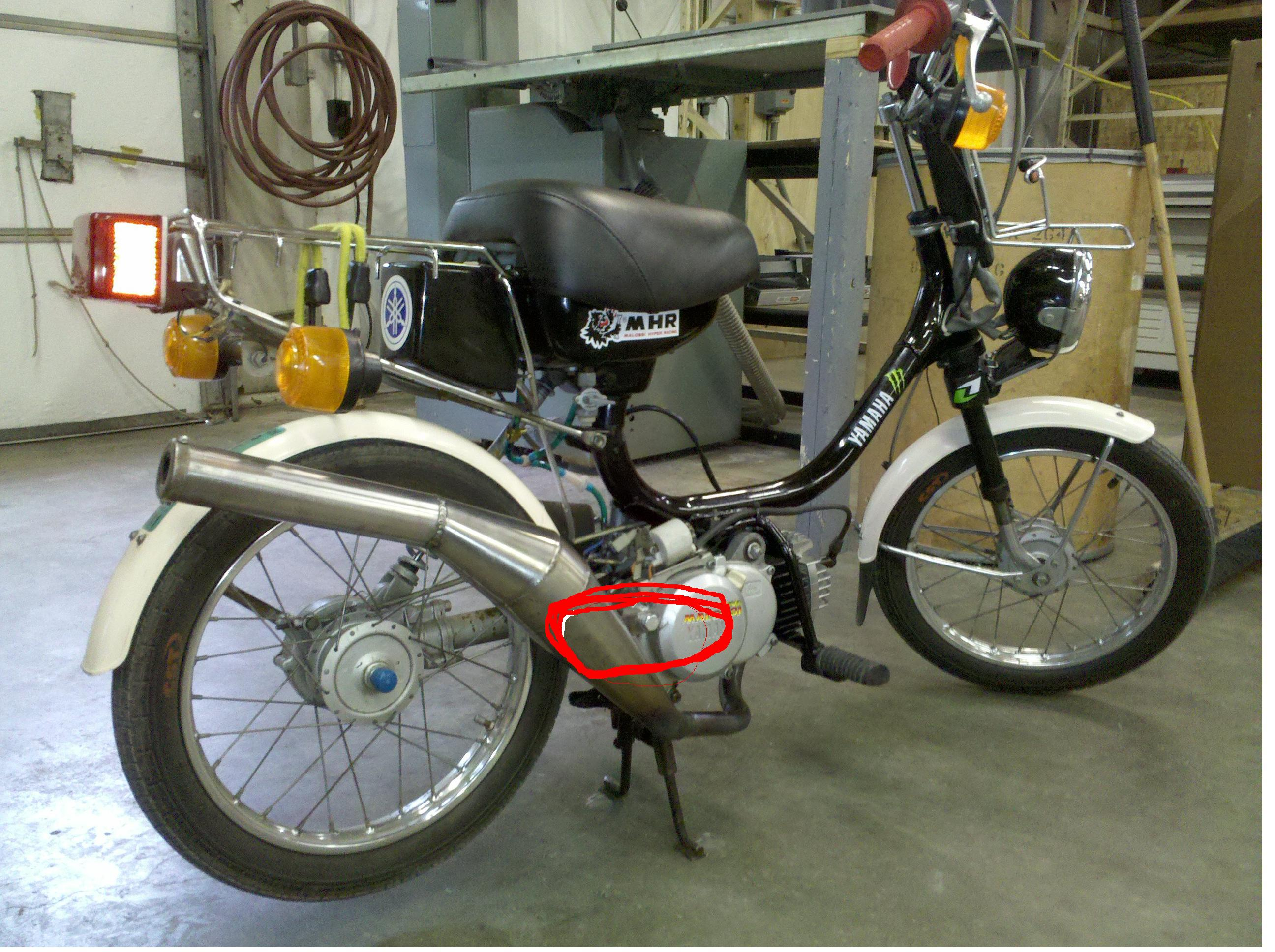 Yamaha qt50 exhaust *info thread* — Moped Army