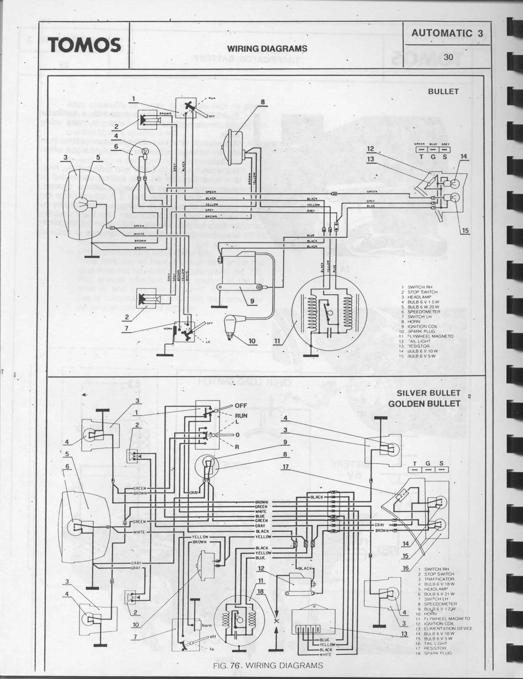 tomos a3 wiring diagram moped army
