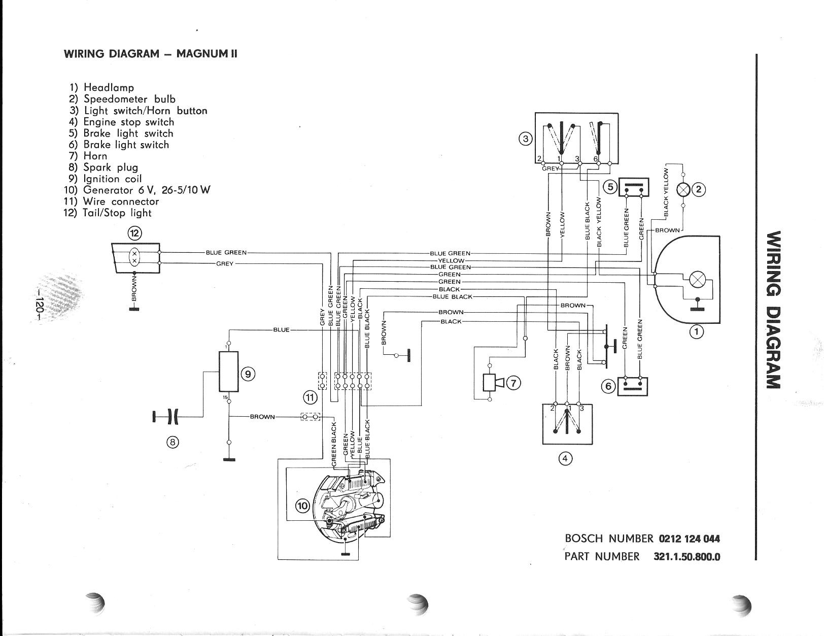 Puch Magnum II Wiring Diagram — Moped Army