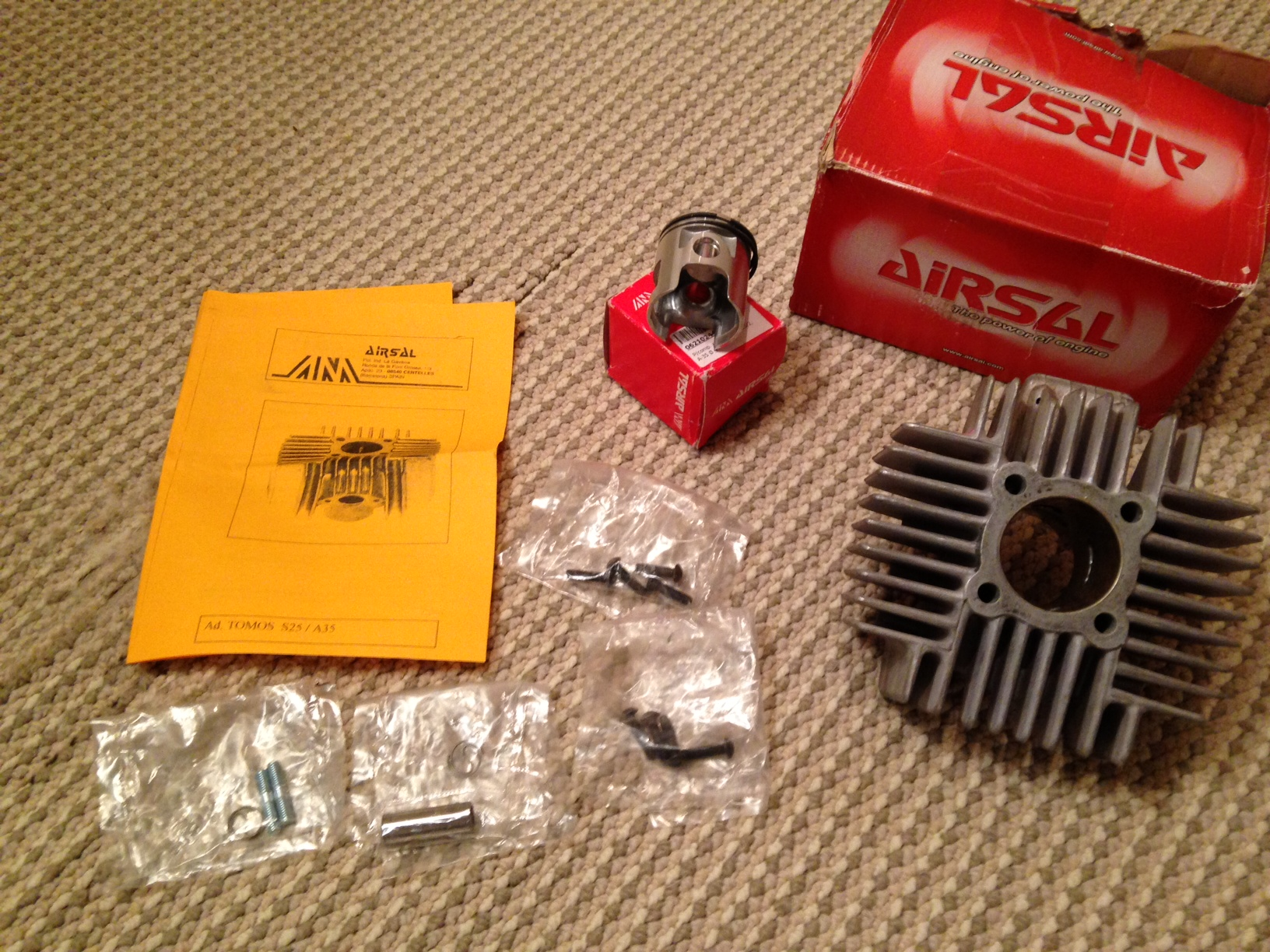 FS: Airsal 70cc 44mm Cylinder Kit for Tomos A35 — Moped Army