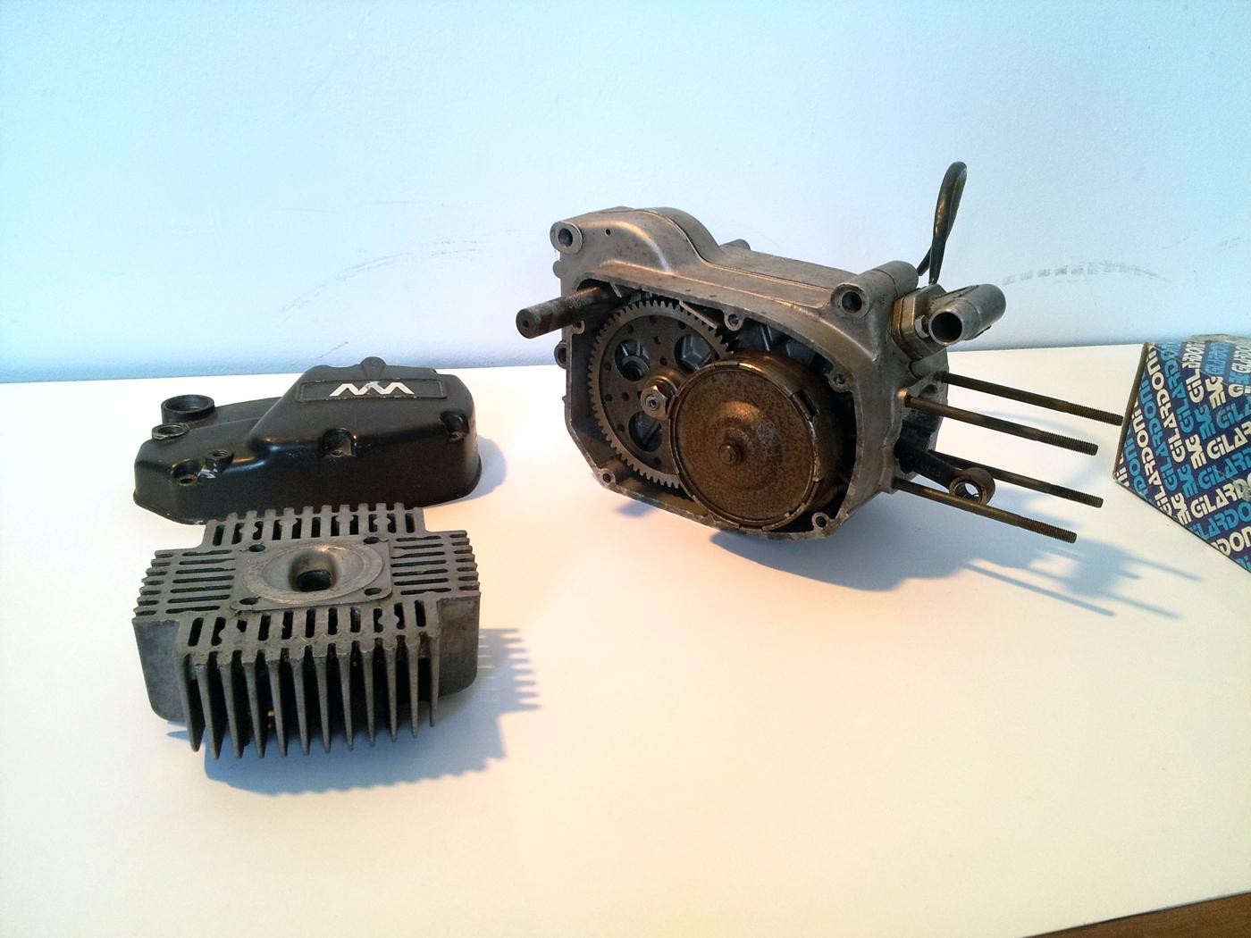 Fs rebuilt morini m1 engine gilardoni kit by marvin for Motor city bad beat