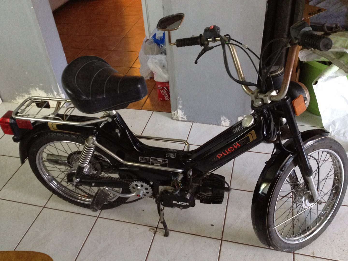 Looking for my old moped: 1976 Puch Newport blk/gold — Moped