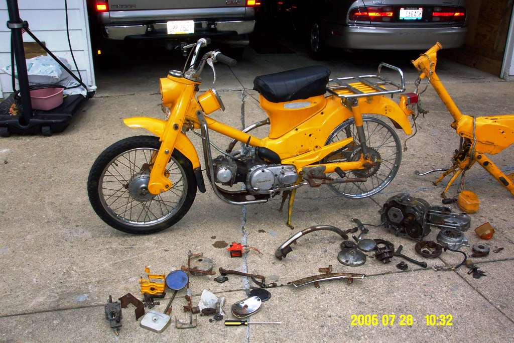 1971 K3 Honda Ct90 F S With Parts Moped Army