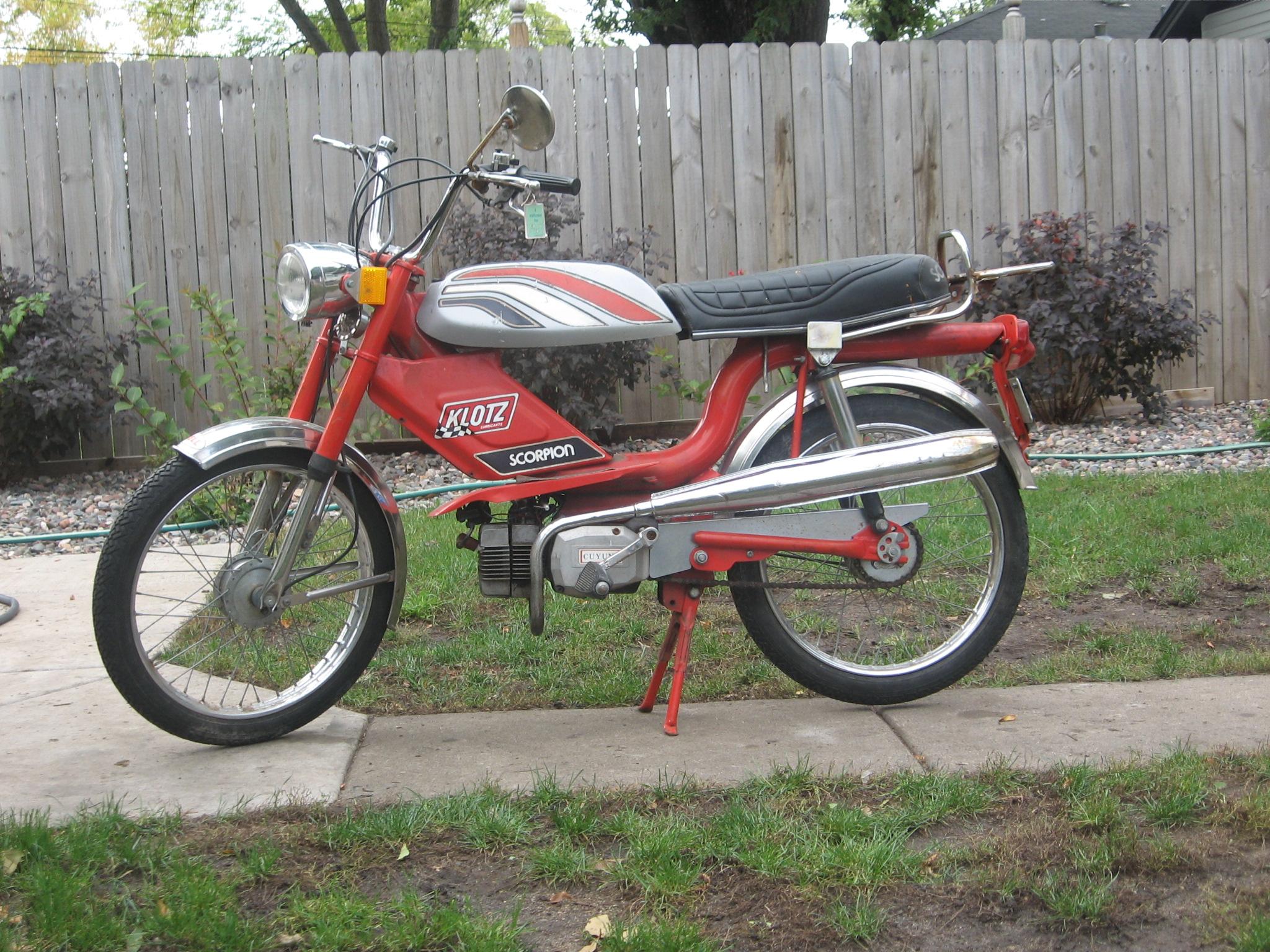 1978 Scorpion Scrambler Moped Army
