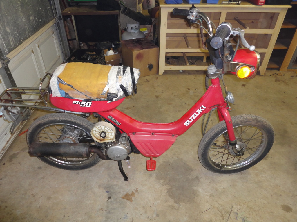Fs 1982 Suzuki Fa50 300 Moped Army Scooter Dsc00334