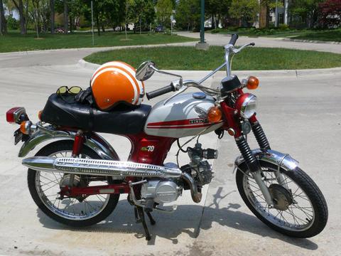 Fs 1971 Honda Cl70 Ann Arbor Moped Army