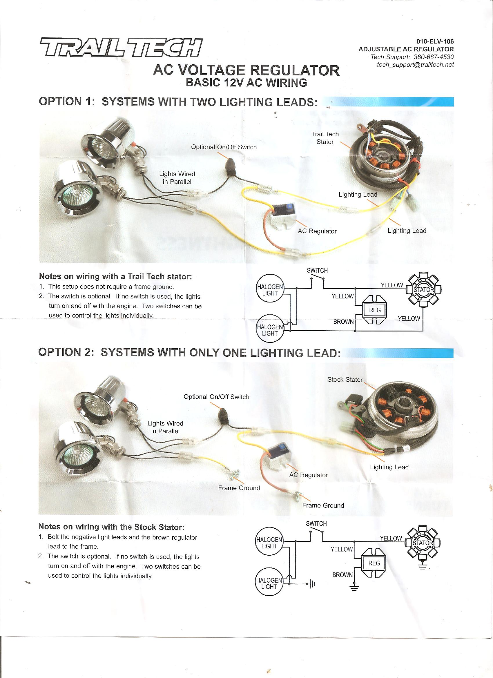 Puch 12V Lighting Coil + Trail Tech Dial Regulator — Moped Army Adjustable Voltage Regulator Wiring Diagram on