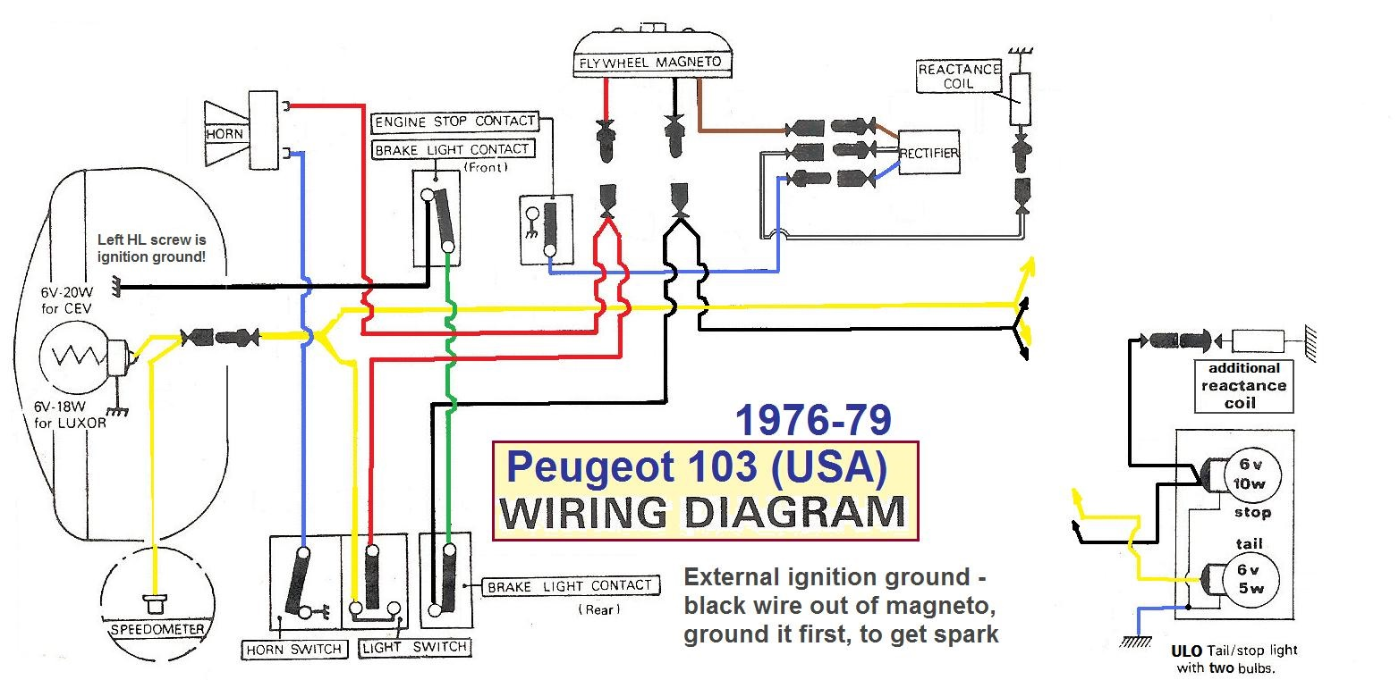 Peugeot 103 Wiring Diagram Library First Stop Light 103wiringdiagrammodified