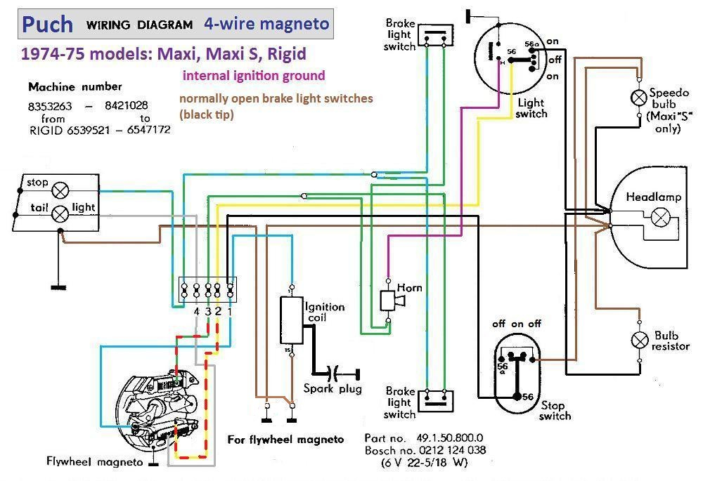 [SCHEMATICS_4CA]  Puch Maxi 1976 Wiring — Moped Army | Wiring Diagram Puch Maxi Luxe |  | Moped Army