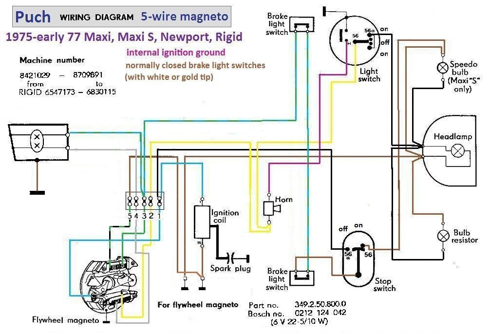 1985 Puch Maxi Wiring Diagram. Does it exist? — Moped ArmyMoped Army