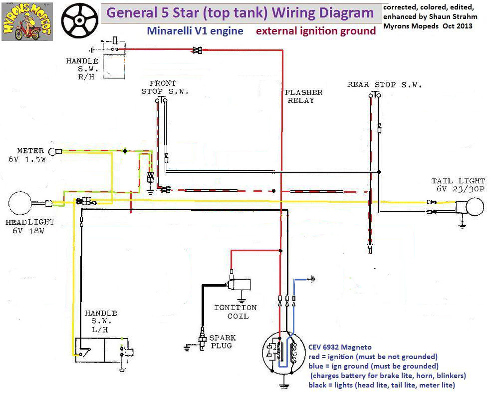 General 5 Star - Wiring Mystery — Moped ArmyMoped Army