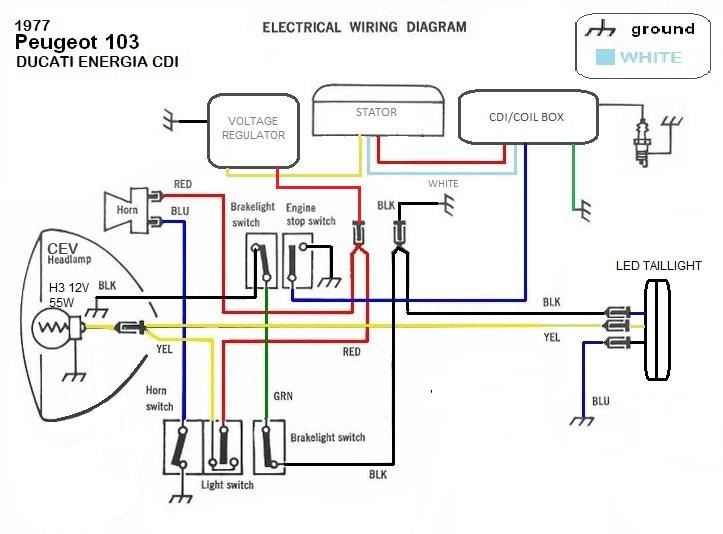ducati regulator wiring diagram i m big dumb at wiring  help i need an adult   peugeot 103 ducati  peugeot 103