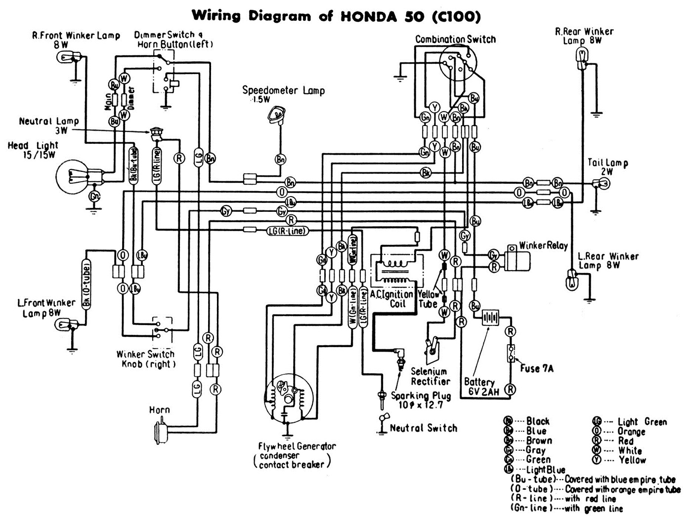 [DIAGRAM_38EU]  196* Honda C100 Cub 50 Ignition Switch Question — Moped Army | Honda C90 Wiring Diagram |  | Moped Army