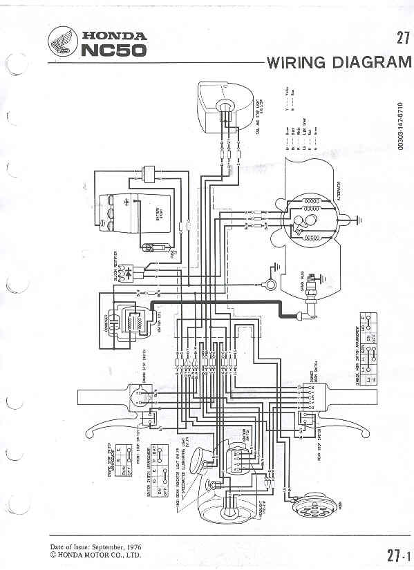 Re: anyone have a honda express wiring diagram sca — Moped