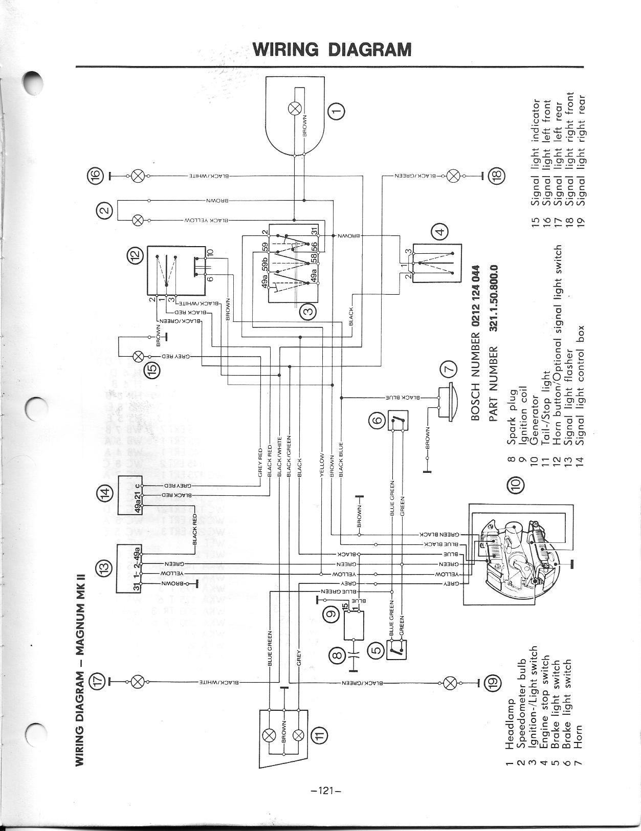 only 5 wires coming out of my puch stator? — Moped Army  Wire Stator Wiring Diagram on