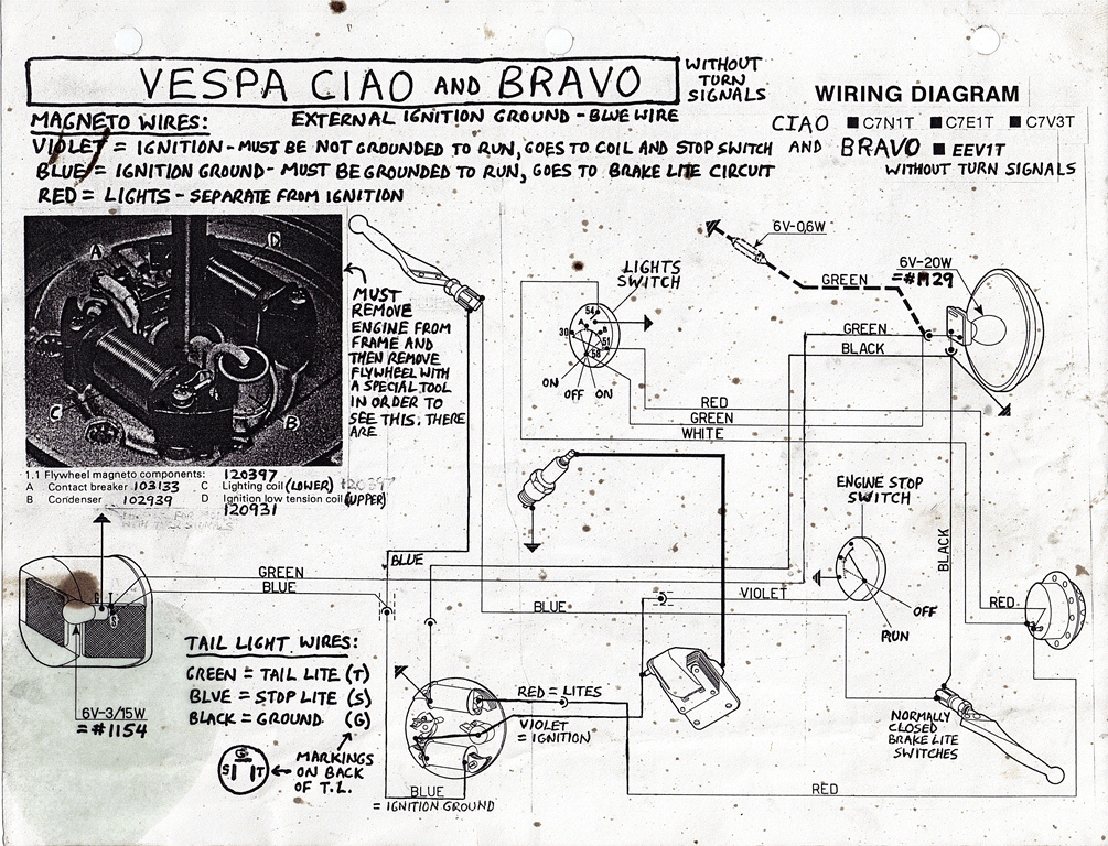 vespa lx150 schematic wiring re: the missing vespa bravo ciao wiring diagram — moped army #9