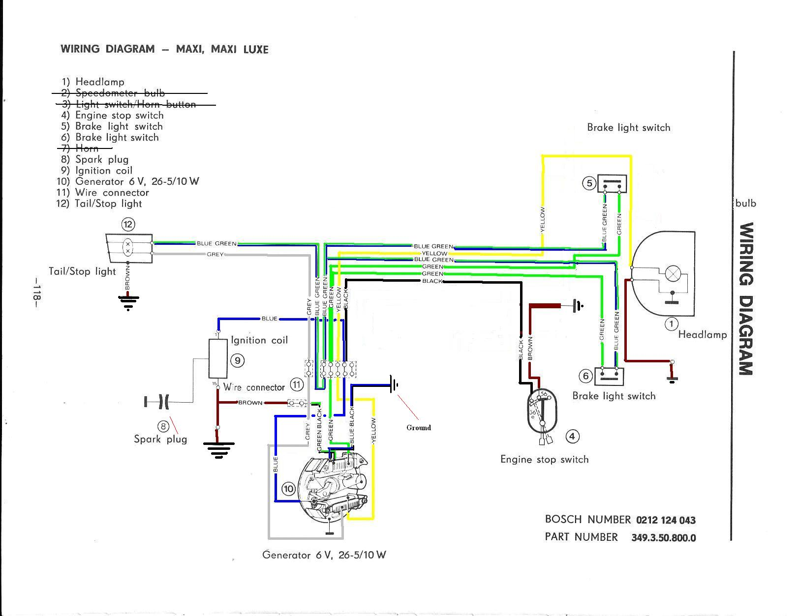 Puch Simplified Wiring Review Moped Army Diagram Re