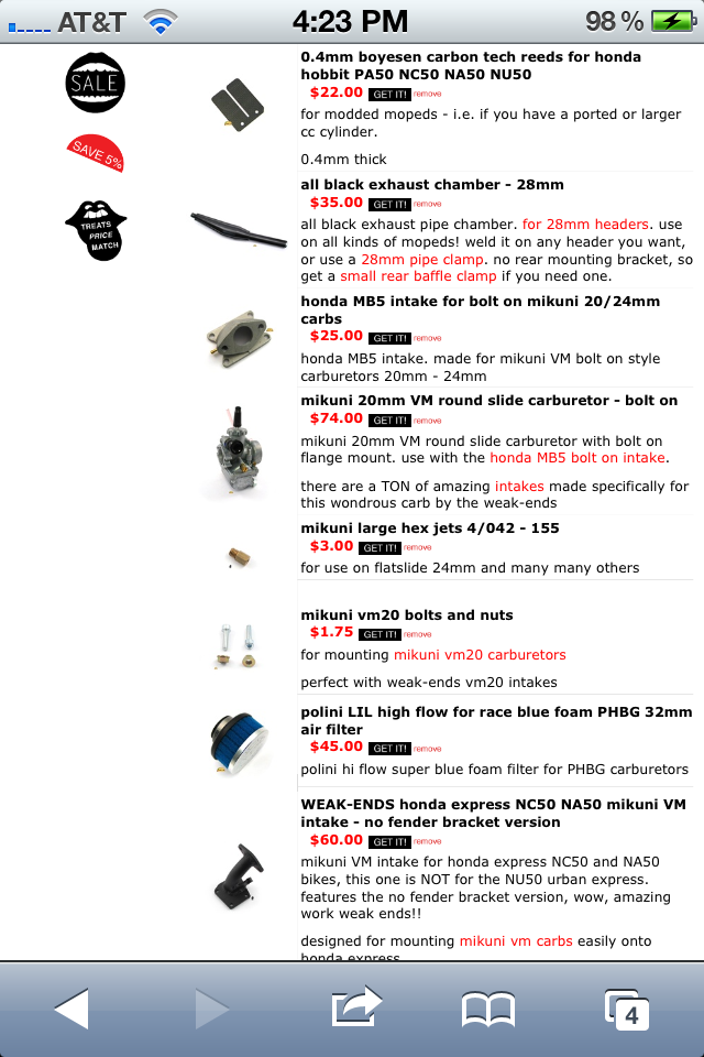 78 Honda Express(NC50) 70cc DR kit — Moped Army