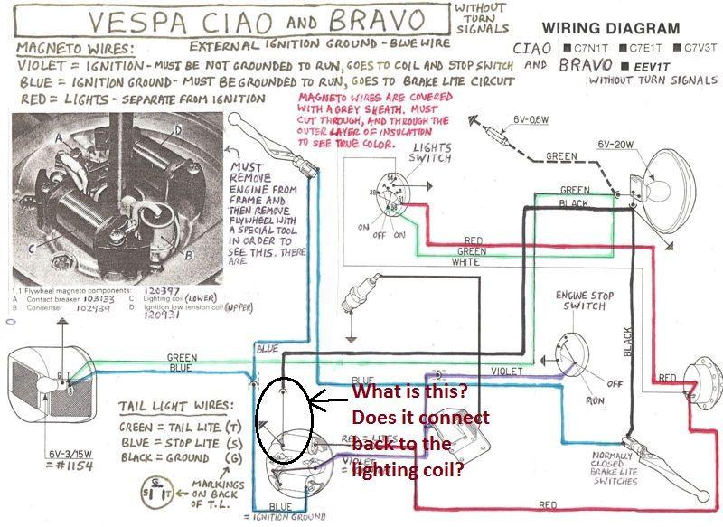 Vespa Bravo Moped Wiring Diagram