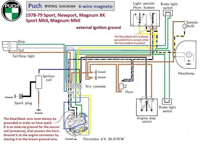Puch Magnum Wiring Diagram - Service Repair Manual on