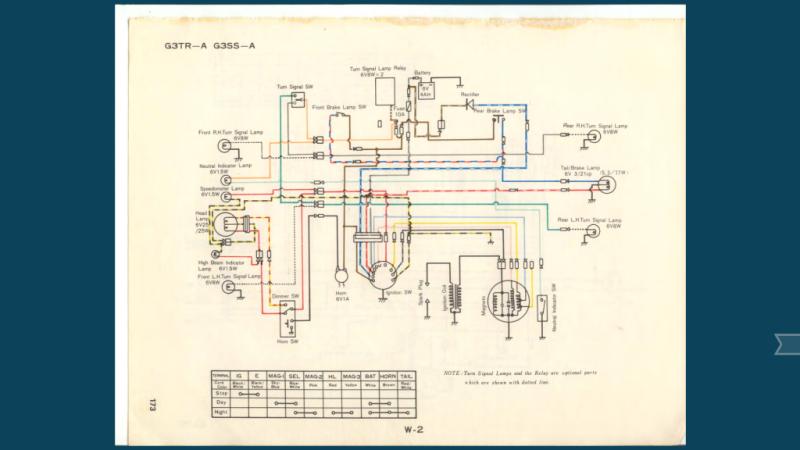 re 72 kawasaki g3ss hardwire moped army  kawasaki g3ss wiring diagram #4