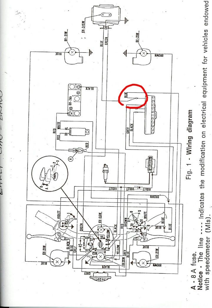 re vespa ciao wiring moped army rh mopedarmy com Moped Ignition Wiring Diagram Motor Scooter Wiring Diagrams
