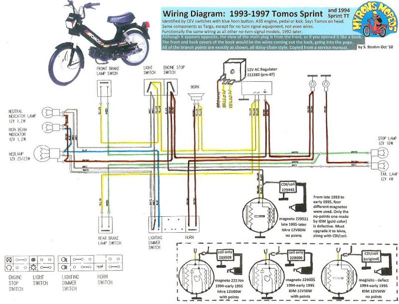 re ignition coil moped army rh mopedarmy com 1978 tomos moped wiring diagram Motor Starter Wiring Diagram