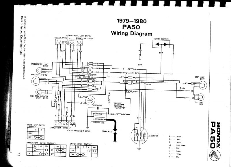 Re: Wiring diagram 1980 Honda PA 50 — Moped ArmyMoped Army