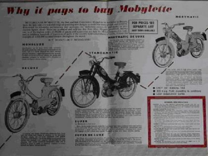 1961 Mobylette, Why it pays to buy Mobylette