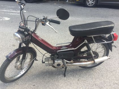 1984 Puch Maxi LS, Burgundy, with long seat