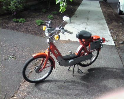 1974 Vespa Ciao, Orange