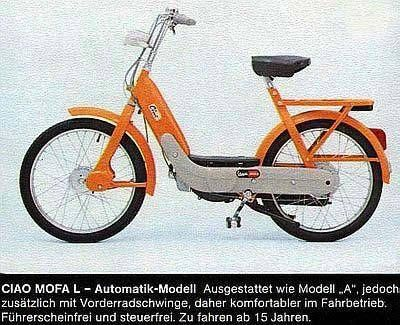 1973 Vespa Ciao, Ad from Germany
