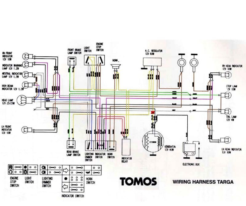 a35 wiring diagram question about    a35    tomos    wiring        moped army  question about    a35    tomos    wiring        moped army