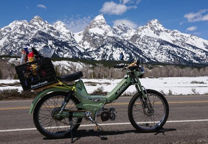 Puch Maxi, Maxi in the Tetons