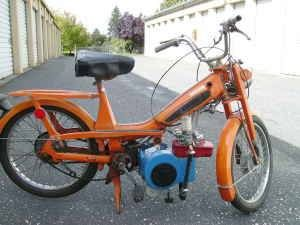 1978 Motobecane 50V, Briggs and Stratton Moped