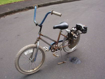 Bike with timmer motor