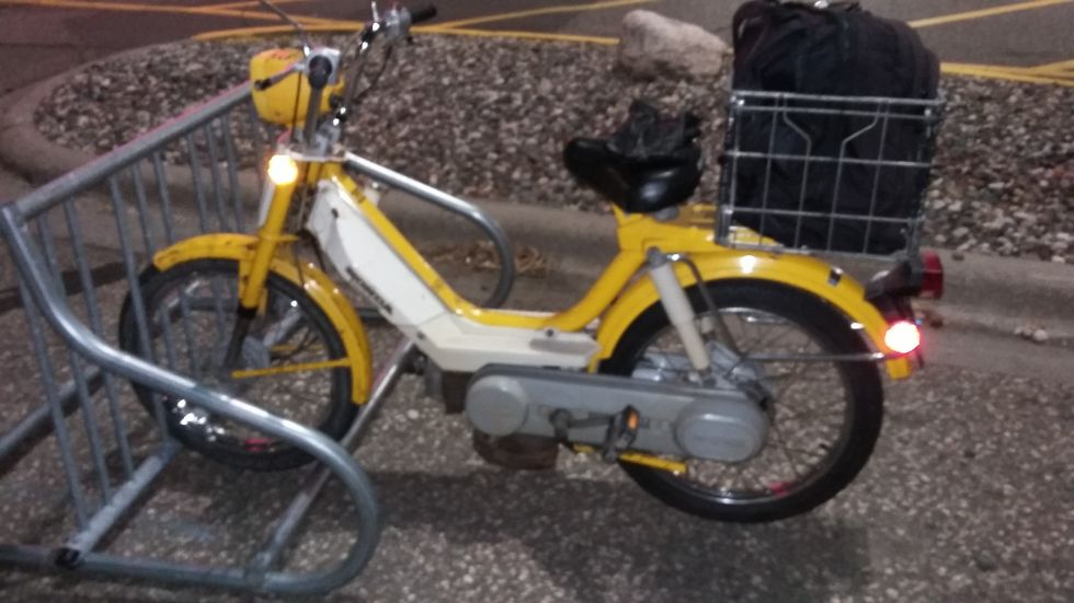 1978 Honda Hobbit, Yellow, PA-50II, bullet-proof daily rider.