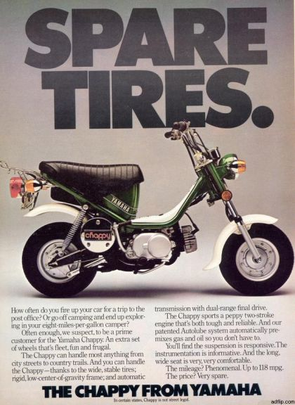1978 Yamaha LB-50 Chappy, Spare Tires Ad