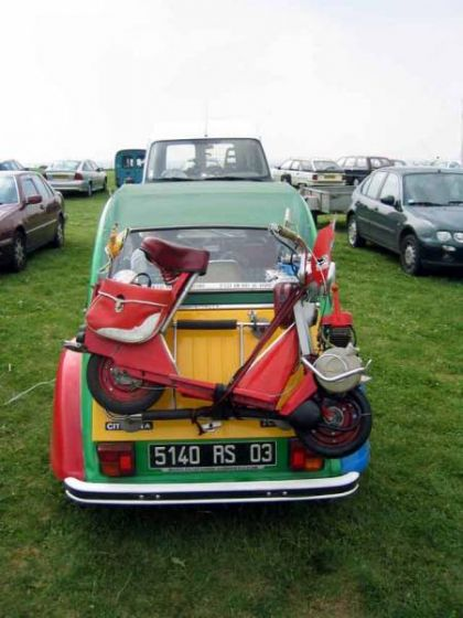 1969 Solex Micron, Strapped to a car