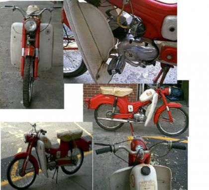 1965 Montgomery Wards Riverside Moped, Red