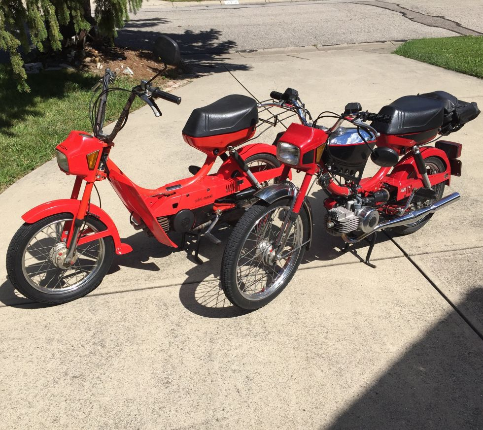 1984 Puch Mini Maxi, mini maxi and dart