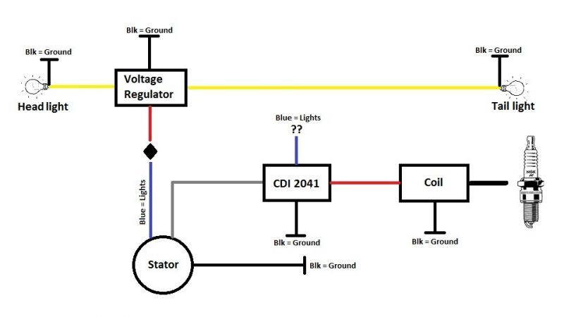 v1 cdi 2041 wiring question
