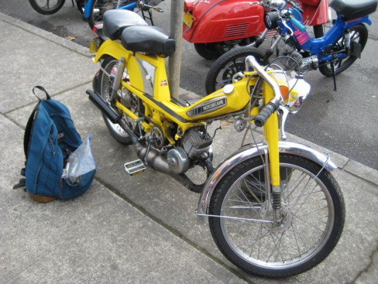 1977 Motobecane 50V, Yellow