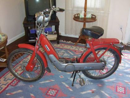 1976 Vespa Ciao, In Living Room
