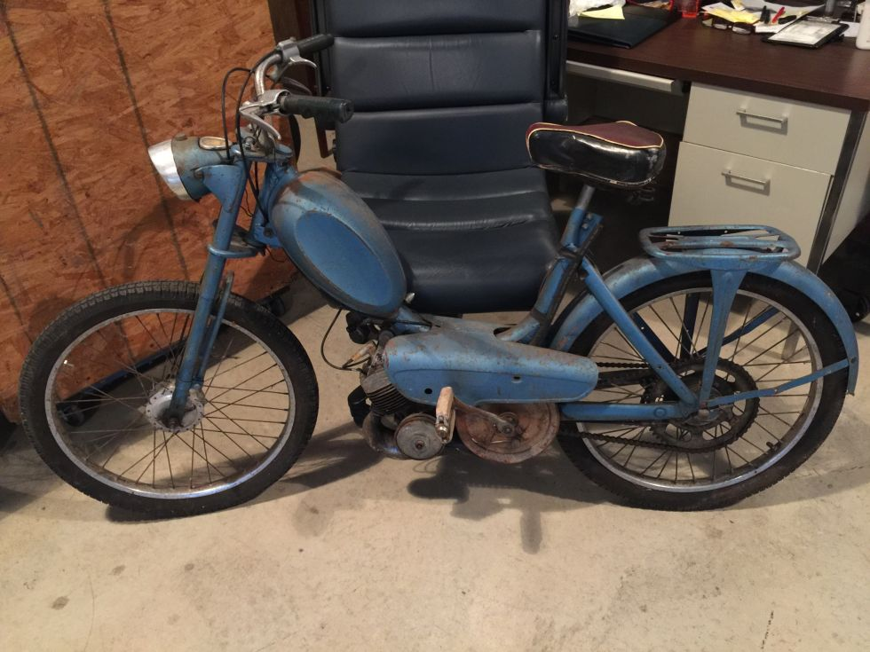1957 Peugeot Vogue SX, Blue and rust color, but good bones