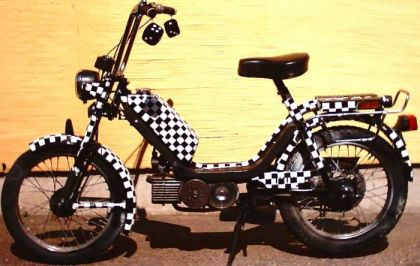 1987 Jawa 210, Black and White